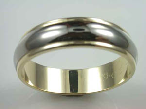 Mens 9ct Gold & Titanium Wedding Ring