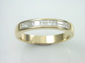 Ladies Princess cut &  Baguette cut Diamond  Dress Ring