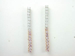 Ladies 18ct White Gold Diamond Drop Earrings.