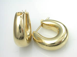 Ladies Italian 18ct Yellow Gold Earrings.
