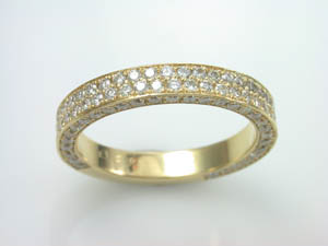 Ladies 18ct Yellow Gold Diamond Ring.