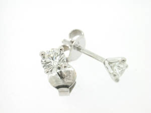 Ladies 18ct White Gold Diamond Studs.