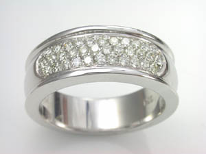 Ladies 18ct WG Pave Diamond set Dress Ring TDW= 0.40ct
