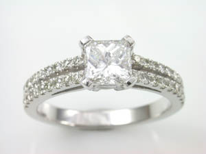 Ladies 18ct white gold Diamond Set Dress Ring