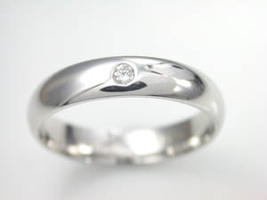 Mens 9ct WG Diamond set Wedding Ring
