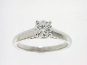 Ladies 18ct White Gold Diamond Set Ring.