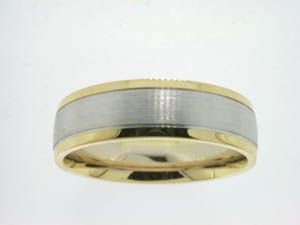Gents 18ct Yellow and White Gold Ring.